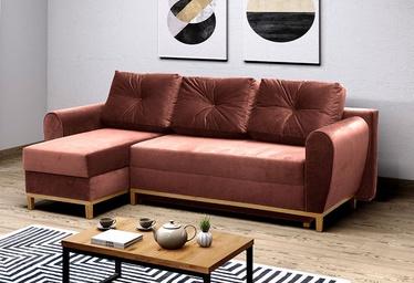 Stūra dīvāns Idzczak Meble Provo Pink, 249 x 143 x 97 cm