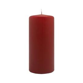 Žvakė, cilindrinė, raudona, 6 x 20 cm