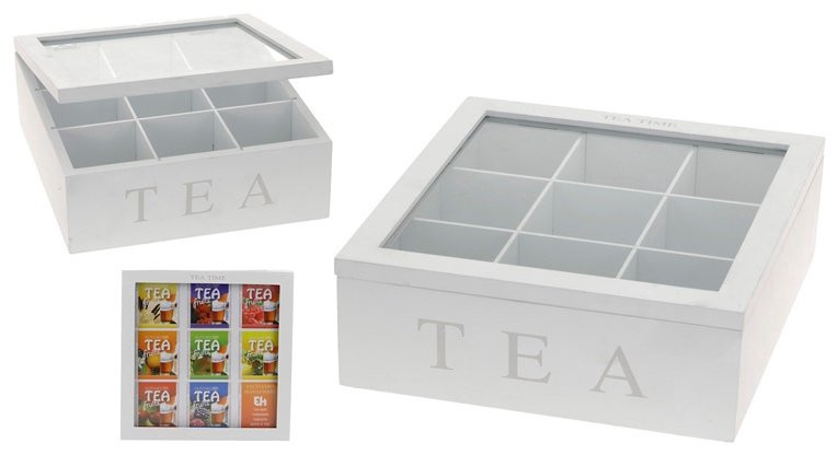 Dėžutė arbatai, 23 x 23 cm