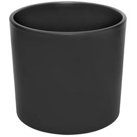 Горшок кер DOMOLETTI, WALEC STRUCUTR, д 28, чёрный мат