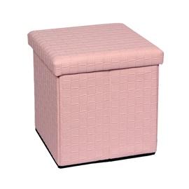 Pufas su daiktadėže, rožinis, 38 x 38 x 38 cm
