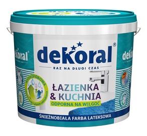 Emulsiniai dažai Dekoral Lazienka & Kuchnia, balti, 5 l
