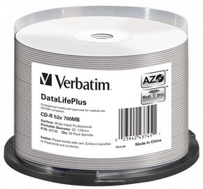 Накопитель данных Verbatim 50x 700MB CD-R 52x DataLifePlus 43745