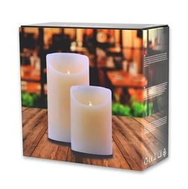 DecoKing Wax LED Candle Set 10/15cm 2pcs