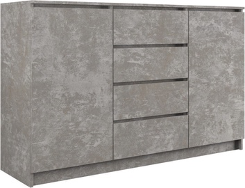 Komoda Top E Shop 2 Doors 4 Drawers Concrete 140cm