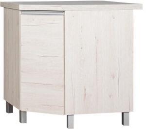 Bodzio Monia Kitchen Corner Cabinet Lower With Swivel Basket Pearl Soma Oak