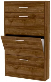BogFran Shoe Shelf San Rio III Walnut