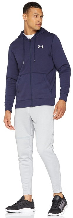 Under Armour Zip Hoodie Rival Fitted 1302290-410 Navy S