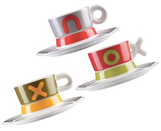 ViceVersa Set 3 Coffee Cup With Saucer