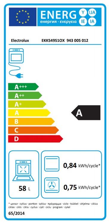 Gāzes plīts ar elektrisko krāsni Electrolux EKK54951OX