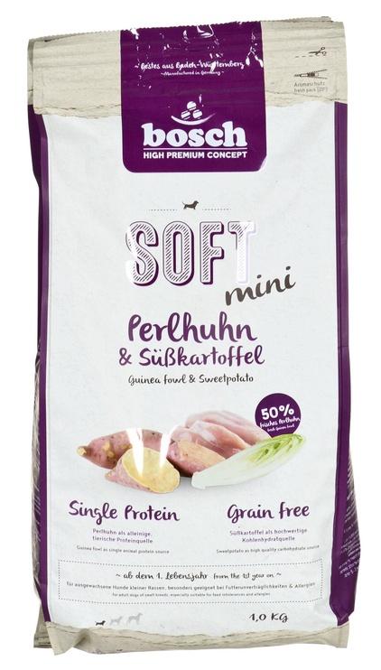 Сухой корм для собак Bosch PetFood Soft Mini Dry Food w/ Guinea Fowl & Sweet Potatoes 1kg