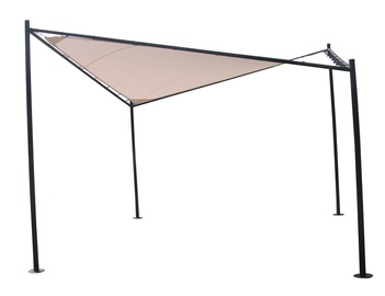 Home4you Sun Sail Garden Gazebo 4x4m Beige