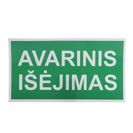 Emergency Exit Sign Sticker 230x130mm Green/White