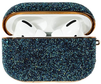 Kingxbar Crystal Fabric Shiny Glitter Case For AirPods AirPods Pro Blue