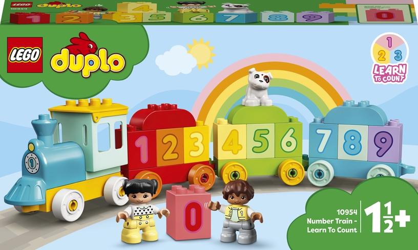 Конструктор LEGO Duplo My First Поезд с цифрами — учимся считать 10954, 23 шт.