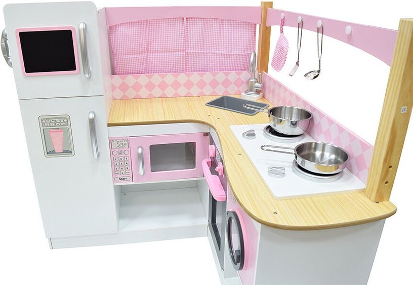 4IQ Joanna Wooden Kitchen Pink/White