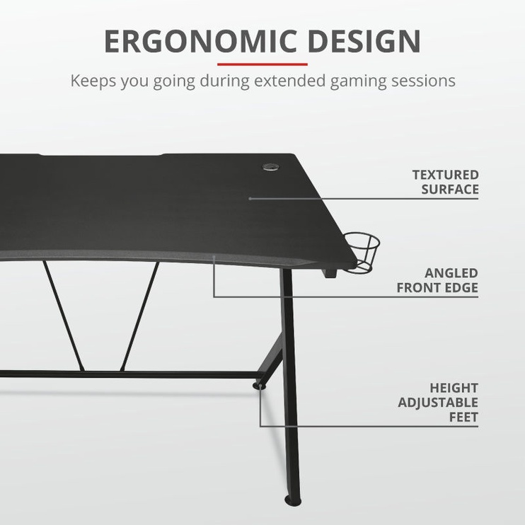 Trust GXT 711 Dominus Gaming Desk Black
