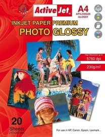 Fotopaber ActiveJet Photo Paper A4 230 Gloss 20 Pages