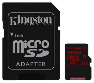 Kingston 128GB microSDHC UHS-I Class 3 + Adapter