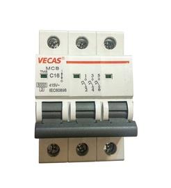 Automatinis jungiklis Vecas MCB, 3P, C, 63A, 6kA