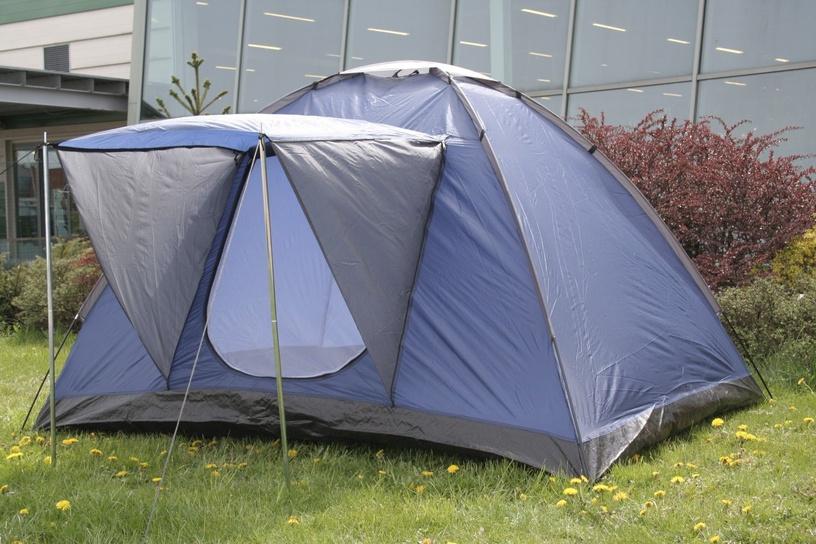 Trīsvietīga telts Diana Square 4750959055038, zila/pelēka