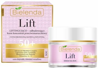 Bielenda Lift Lifting Rebuilding Cream Concentrate Anti Wrinkle 50+ Night 50ml