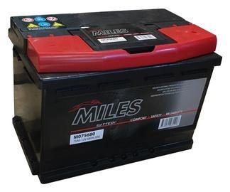 Аккумулятор Miles M075680, 12 В, 75 Ач, 680 а
