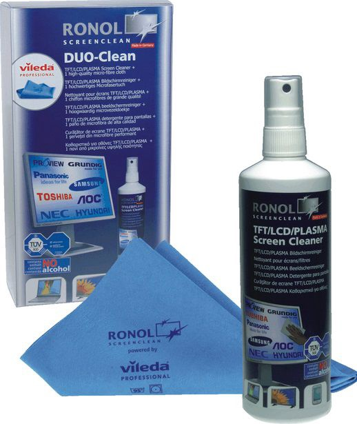 Ronol Duo Clean for TFT/LCD Screens 250ml + Vileda microfiber cloth