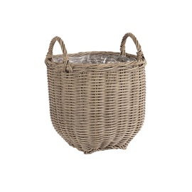 Home4you Wicker Basket 32x32x34cm Beige