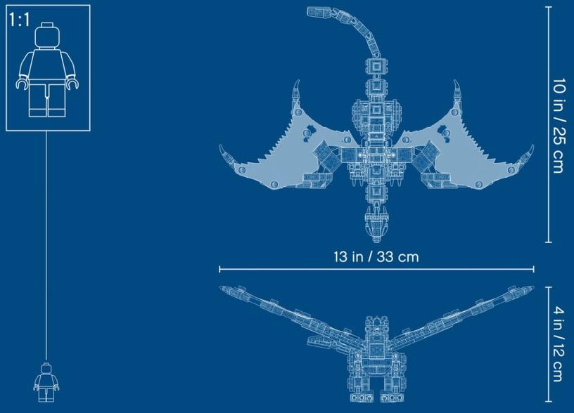 Конструктор LEGO®Ninjago 71718 Боевой дракон Мастера Ву