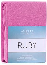 Palags AmeliaHome Ruby, rozā, 160x200 cm, ar gumiju