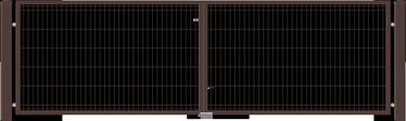 VĀRTI VIENVIRU 4000X1200 BRŪNI W4518 (GARDEN CENTER)