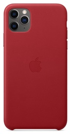 Apple Leather Back Case For Apple iPhone 11 Pro Max Red
