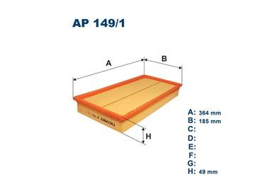 Automobilių oro filtras Filtron AP 149/1