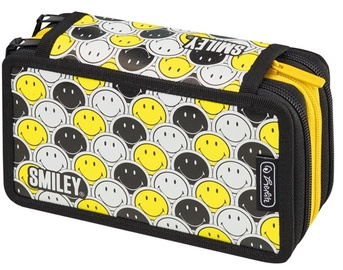 Herlitz 3 Piece Pencil Case Smiley World Black Stripes