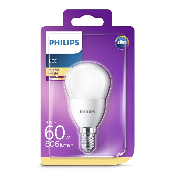 SP. LED P48 7W E14 827 FR 806LM 15KH (PHILIPS)
