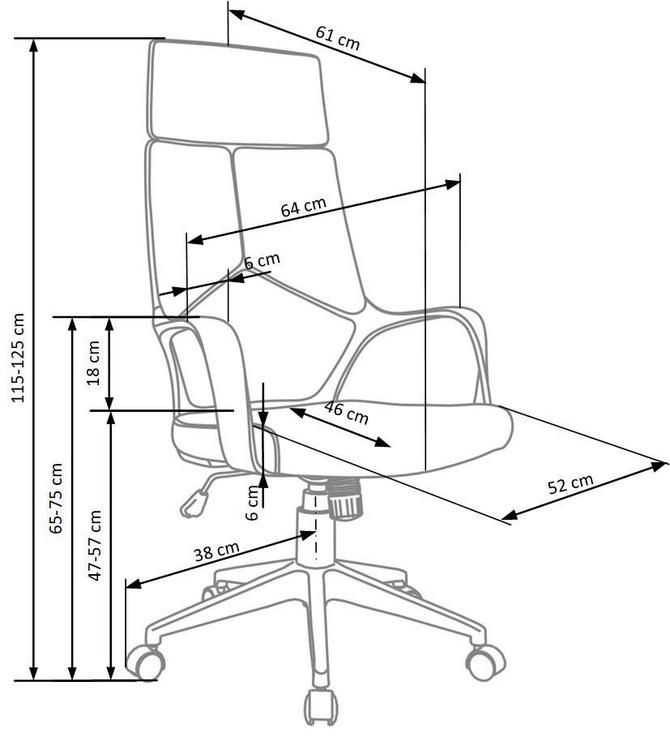 Biroja krēsls Halmar Voyager Blue