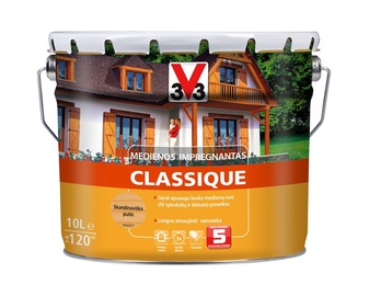 Medienos impregnantas V33 Classique, skandinaviškos pušies spalvos, 10 l