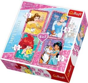 Dėlionė Trefl Disney Princess, 4 viename