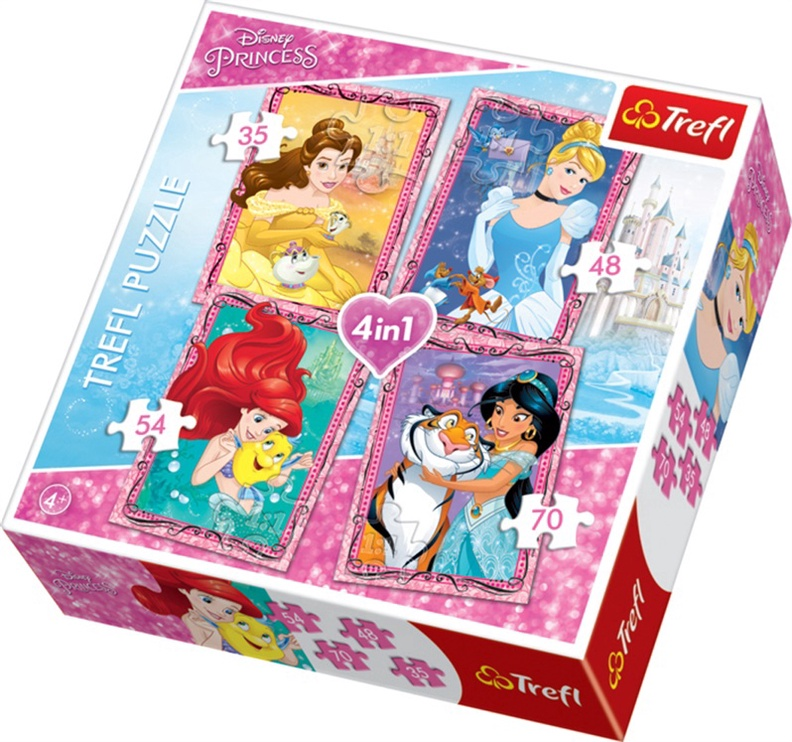 Puzzle Printsess  34256 4 in 1