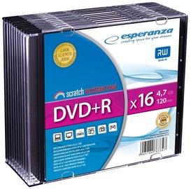 Esperanza 1118 DVD+R 16x 4.7GB Slim Jewel Case 10pcs