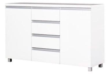 Kumode Bodzio Aga AG05 White, 134.5x43x85 cm