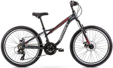 "Vaikiškas dviratis Romet Rambler Fit 2224587, raudonas/pilkas, 12"", 24"""