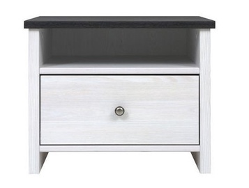 Black Red White Porto Night Stand 40x53cm Black/White