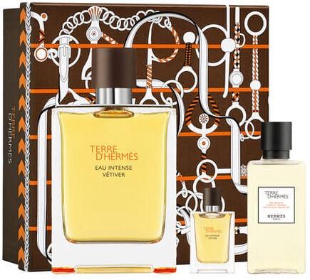 Подарочный набор для мужчин Hermes Terre D Hermes Eau Intense Vetiver 100ml EDP + 40ml Shower Gel + 5ml EDP