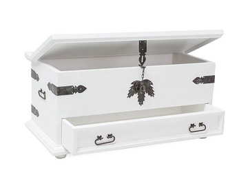 Signal Meble Poprad Chest w/ Drawer White Wax