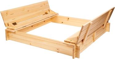 Smėlio dėžė Folkland Timber, 140x140 cm, su dangčiu