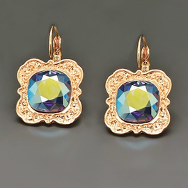 Diamond Sky Earrings With Crystals From Swarowski Nostalgia Pacific Opal AB