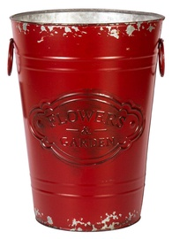 Кронштейн вазона Home4you Vintage Garden-2 Metal Bucket 17x25cm Red