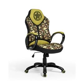 Biuro kėdė Edmund Camouflage, žalia